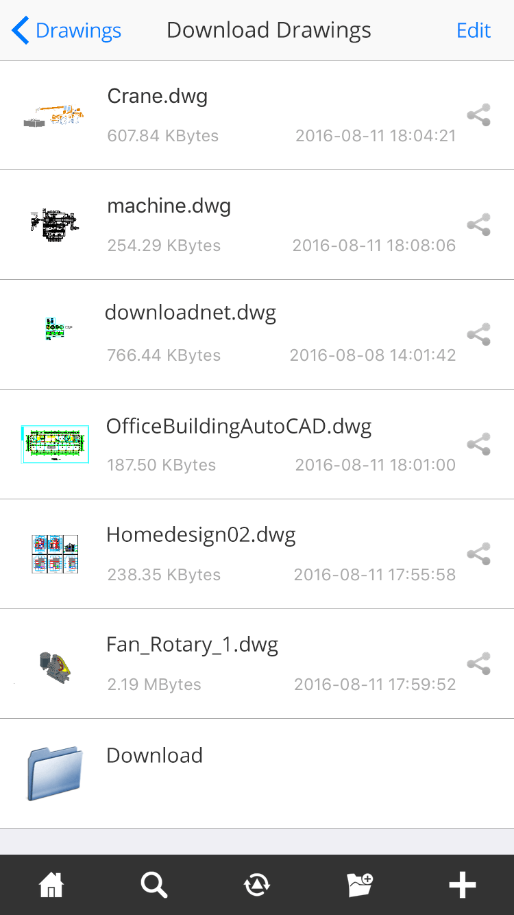 DWG FastView for Mobile-View CAD drawings on Mobile